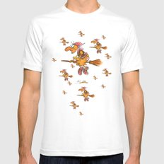 Witch's Festival SMALL White Mens Fitted Tee