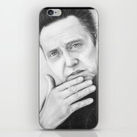 christopher walken iPhone & iPod Skins featuring Christopher Walken Portrait by Olechka