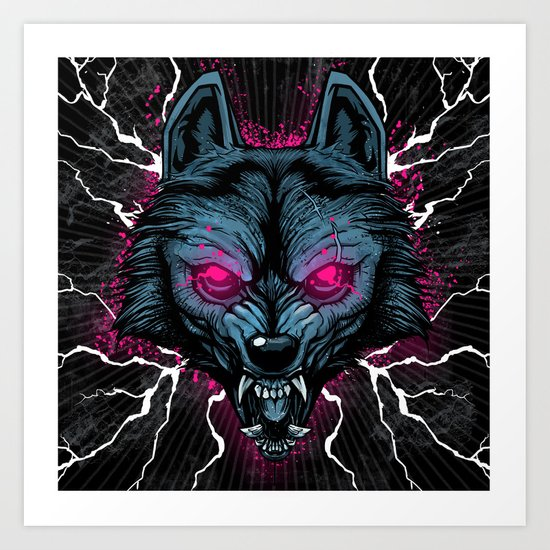 Insanity Wolf Art Print