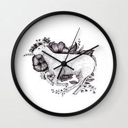 Sheep - Go Vegan Wall Clock