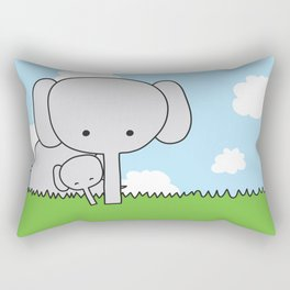 Mommy Elephant Rectangular Pillow