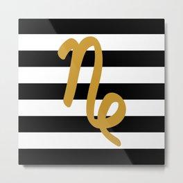 Capricorn Stripes Metal Print