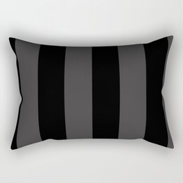 Dark Grey and Black Stripes | Vertical Large Stripes | Rectangular Pillow