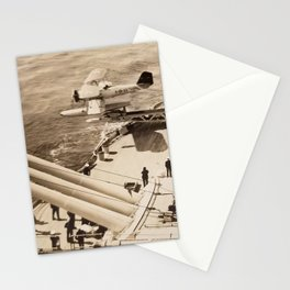 Floatplane Launch from Battleship - USS Pennsylvania Stationery Cards