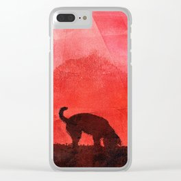 Sniffing Spanish Water dog. Clear iPhone Case