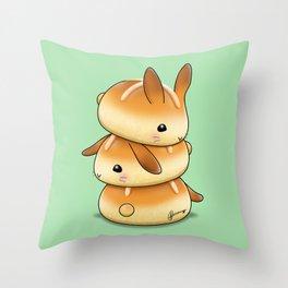 Hot Cross Bunbuns Throw Pillow