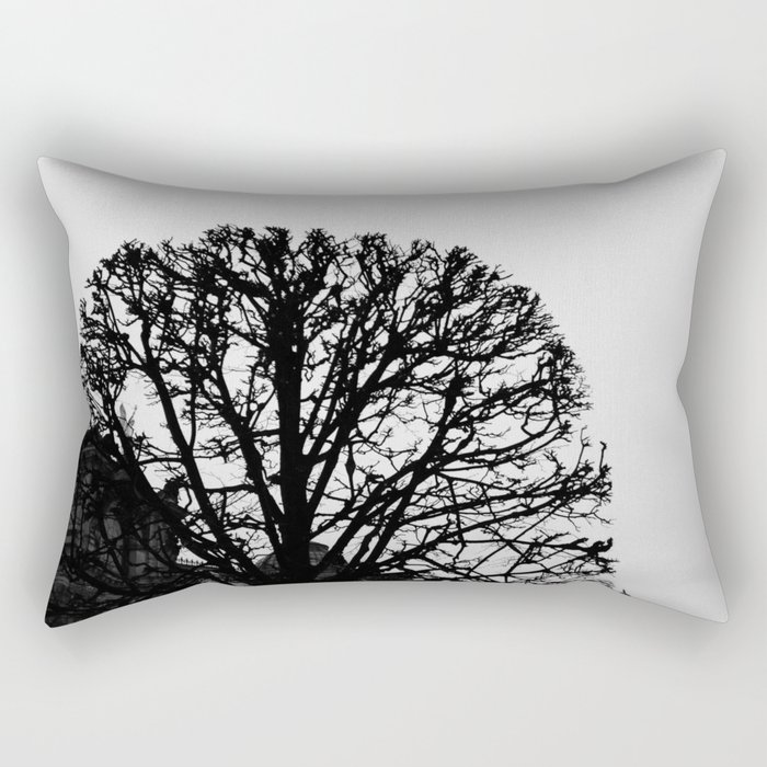 Tree Silhouette Rectangular Pillow
