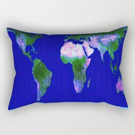 World Map : Gall Peters Rectangular Pillow