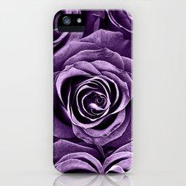 Rose Bouquet in Purple iPhone Case