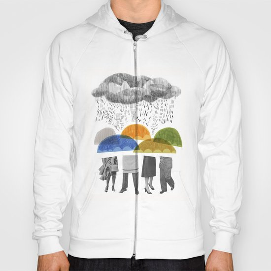 cloudy days for uppercase mag Hoody