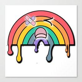 Rainy the yami kawaii sad rainbow Canvas Print
