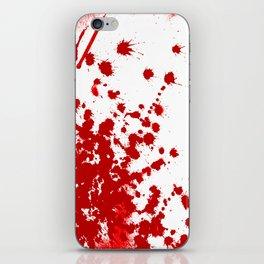 Red Splatter iPhone Skin