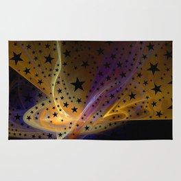 Ethereal Flame with Stars Rug