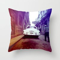 cuba Throw Pillows featuring Cuba 2 by very giorgious