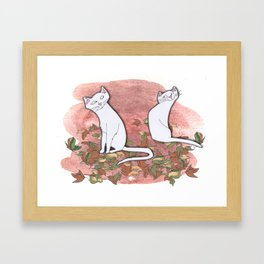 October Cats Framed Art Print