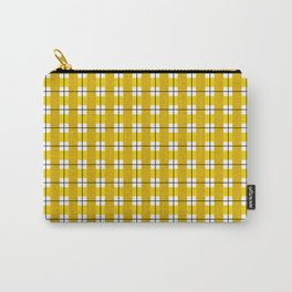 Chequered Grid - Gold Carry-All Pouch