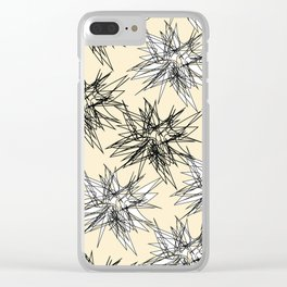 Black and White Squiggles Clear iPhone Case