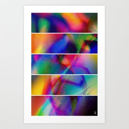 Aura Dream I (Five Panels Series) Art Print