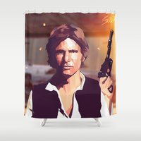 han solo Shower Curtains featuring Han Solo by Cesar Carlevarino