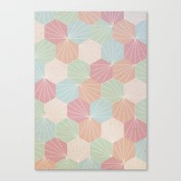 pastel Canvas Prints featuring Pastel by According to Panda