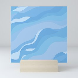 Abstract blue seamless pattern #6 Mini Art Print