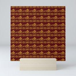 Baroque style retro floral pattern Mini Art Print