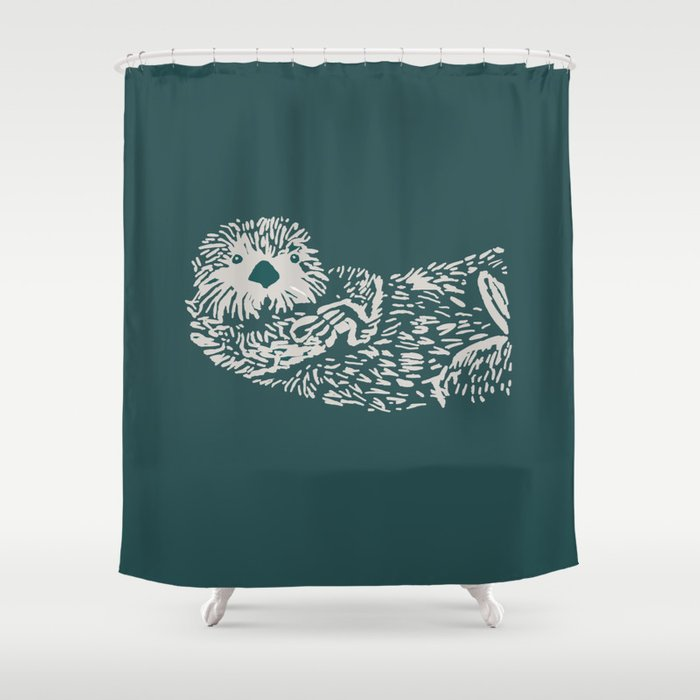 The Handsome Sea Otter Shower Curtain By Artdevil01