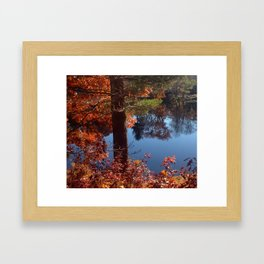 Fall on the Pond Framed Art Print