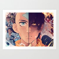 the last airbender Art Prints featuring Avatar: The Last Airbender by hara
