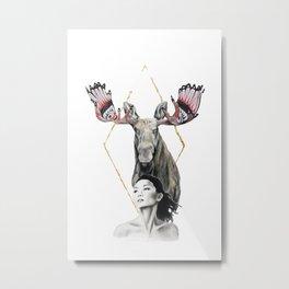 Haida Moose Metal Print