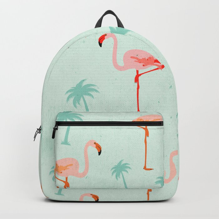 Vintage Flamingos Backpack