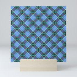 Blue Tartan Pattern Mini Art Print
