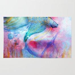 Iridescent Abstract Betta Rug