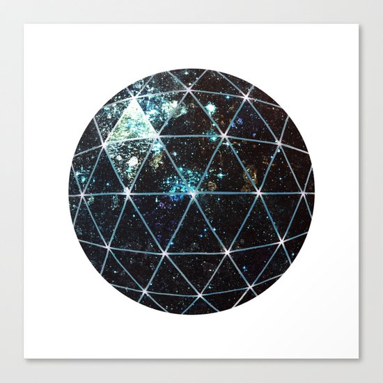 Galaxy Geodesic  Canvas Print