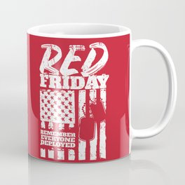 Red Friday American Military Coffee Mug