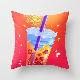 Dumbo octopus bubble tea Throw Pillow