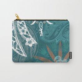 Hawaiian - Samoan - Polynesian Tribal Print Carry-All Pouch