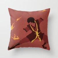 zuko Throw Pillows featuring Zuko by JHTY