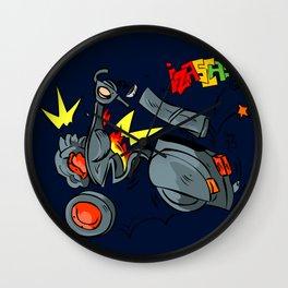 vespa fail explosion bang comic style Wall Clock