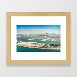 the palm jumeirah Framed Art Print