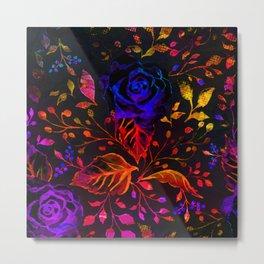 Dark floral 4 Metal Print