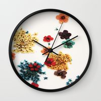 martell Wall Clocks featuring Little Flowers by G Martell