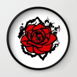 Rose City Antifa RCA Rose Flower Wall Clock