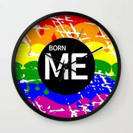 Freedom flag Rainbow Born Me Wall Clock