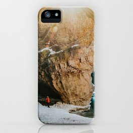 Magical light at Johnston Canyon iPhone Case