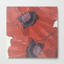 Poppies for remembrance- the cost for peace Metal Print