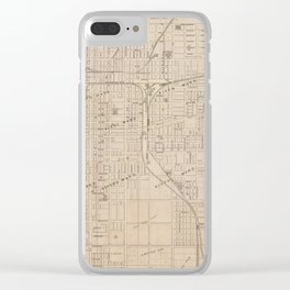 Vintage Map of Terre Haute Indiana (1876) Clear iPhone Case