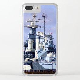 USS North Carolina BB-55 Clear iPhone Case