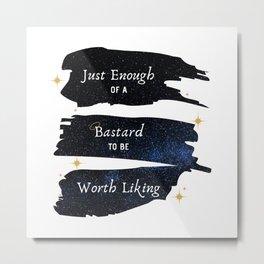 Just Enough Of A Bastard — Good Omens Fanart Metal Print