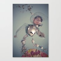 spaceman Canvas Prints featuring Spaceman by Cameramask